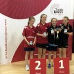 Danielle Kelly 2015 English U14 Doubles Champion