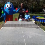 Ashford Table Tennis Club coach Keith Foot at Super Saturday of Sport - August 2015