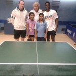 Paul Drinkhall & Darius Knight at Ashford Table Tennis Club - August 2015