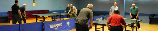 Ashford Table Tennis Club - Friday morning doubles