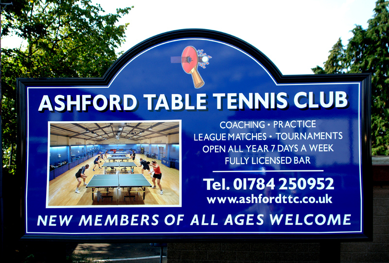Ashford Table Tennis Club - External Signage